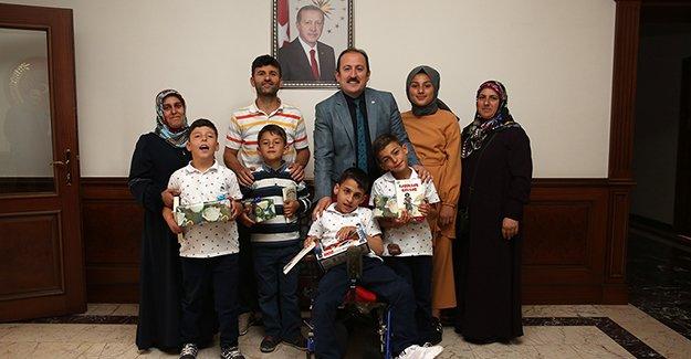 Recep, Tayyip ve Erdoğan'dan Vali Pehlivan'a ziyaret