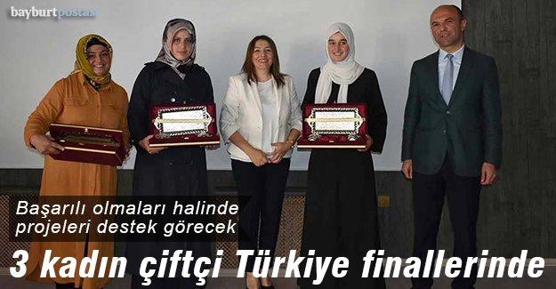 Bayburtlu 3 kadın çiftçi Türkiye finallerinde