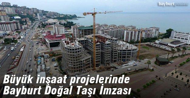 Büyük projelerde Bayburt Doğal Taşı imzası
