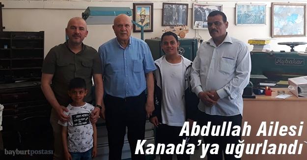 Iraklı göçmenler Bayburt'tan Kanada'ya uğurlandı