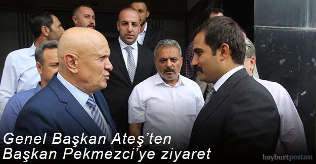 Ülkü Ocakları Genel Başkanı Sinan Ateş'ten Başkan Pekmezci'ye ziyaret