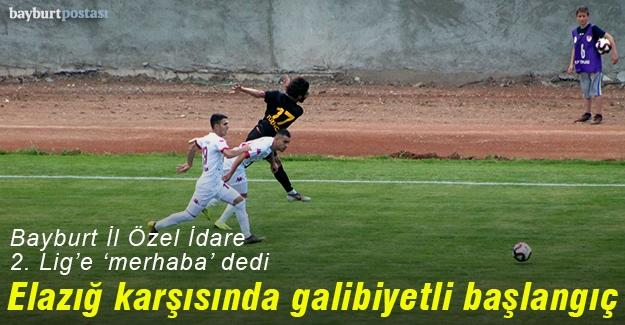 Bayburt İl Özel İdarespor'dan 2. Lige galibiyetli merhaba