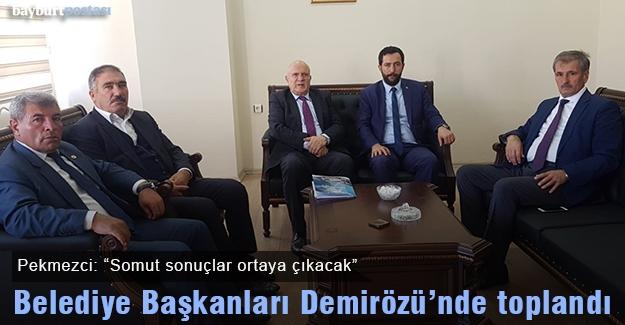 Belediye Başkanları güç birliği için Demirözü'nde toplandı