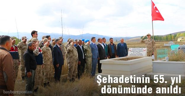 Şehit Turan, 55. ölüm yıl dönümünde anıldı