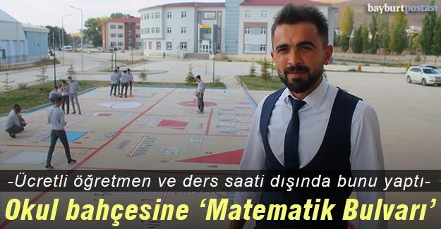 Ücretli öğretmen Timur Arslan 'Matematik Bulvarı' oluşturdu