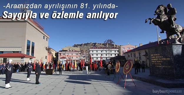 Atatürk, 81. ölüm yıldönümünde özlemle anılıyor