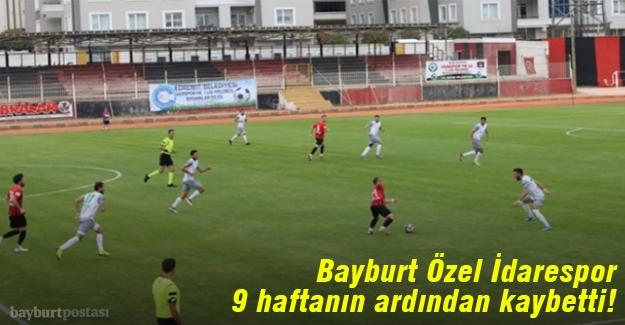 Bayburt Özel İdarespor, 9 hafta sonra kaybetti!