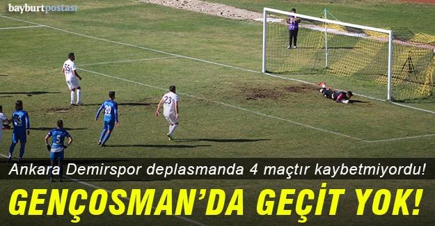 Gençosman'dan Ankara Demirspor da eli boş döndü!