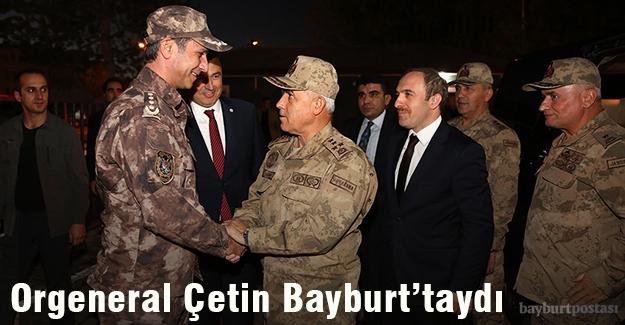 Orgeneral Arif Çetin'den Bayburt'ta ziyaretler