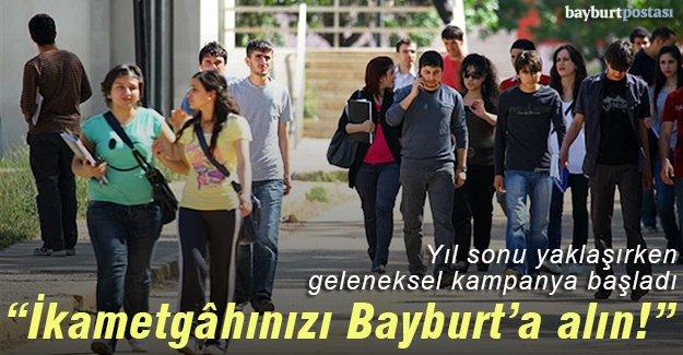 Yeniden 'İkametgâhınızı Bayburt'a Alın' kampanyası