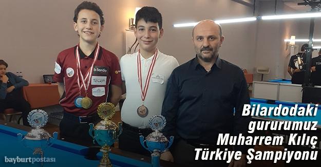 Genç Bilardocu Muharrem Kılıç Türkiye Şampiyonu