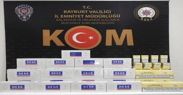 316 paket gümrük kaçağı sigara ele geçirildi