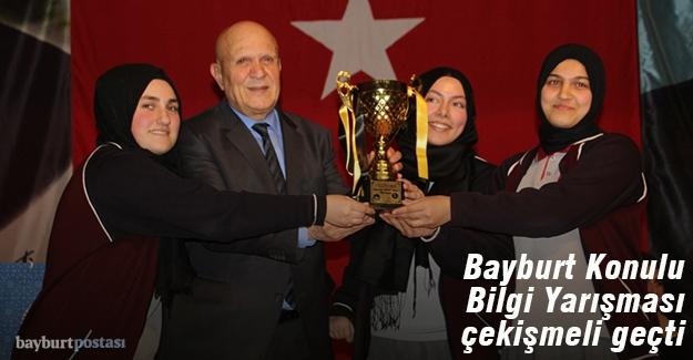 Bilgi Yarışmasının kazananı Bayburt Kız Anadolu İmam Hatip Lisesi
