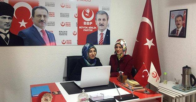 BBP Bayburt Kadın Kolları İl Başkanı Esra Özkaya