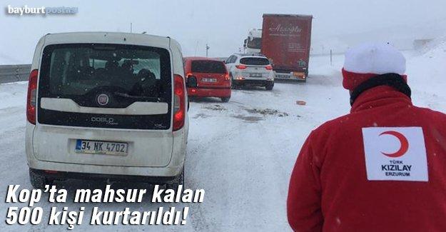 Kop Dağı'nda mahsur kalan yaklaşık 500 kişi kurtarıldı!