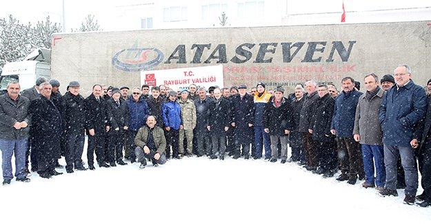 Muhtarlardan Elazığ'a 500 Koli Gıda Yardımı