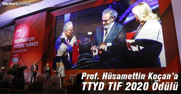 Prof. Koçan'a TTYD TIF 2020 Ödülü