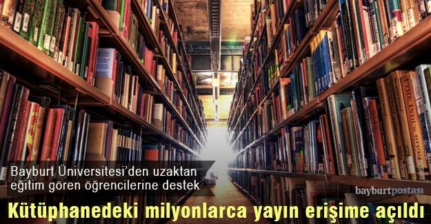 Bayburt Üniversitesi, milyonlarca yayını erişime açtı
