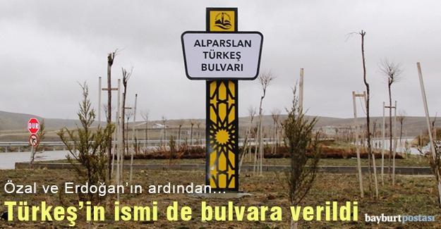 Alparslan Türkeş'in ismi bulvara verildi