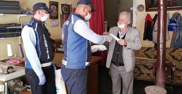 Belediye maske teminine devam ediyor