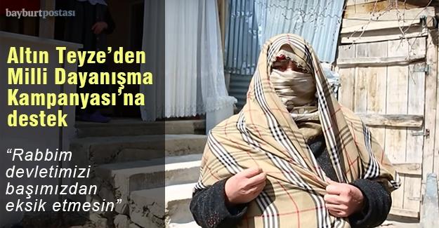 Eşinin Mevlidi için biriktirmişti, Milli Dayanışma Kampanyası'na bağışladı