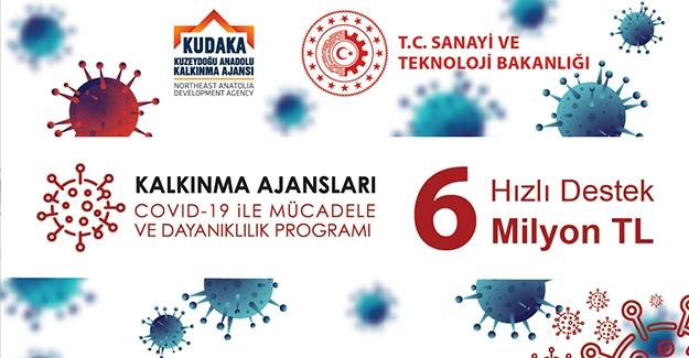 KUDAKA'dan COVID-19 ile mücadele için 6 milyon liralık destek