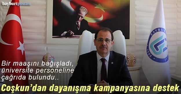 Rektör Coşkun'dan 'Milli Dayanışma Kampanyası'na Destek