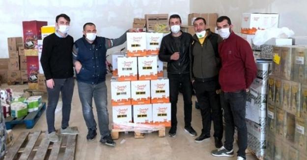 Sarı Duvar taraftar grubundan ihtiyaç sahibi ailelere yardım