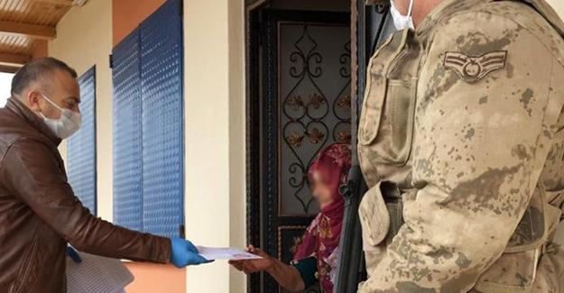 Sosyal yardımlar evlerde teslim ediliyor
