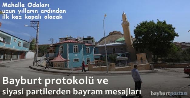 Bayburt protokolü ve siyasi parti temsilcilerinden bayram mesajları