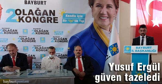 İyi Parti Merkez İlçe Başkanı Yusuf Ergül güven tazeledi