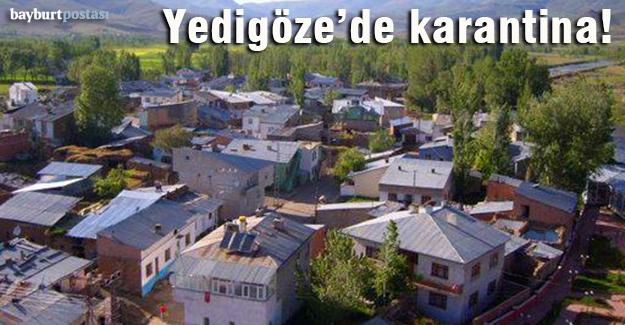 Yedigöze köyü karantinaya alındı!