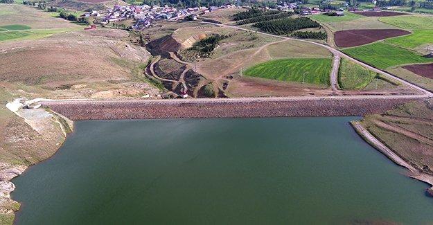 Konursu Göleti, mümbit toprakları suya kavuşturdu