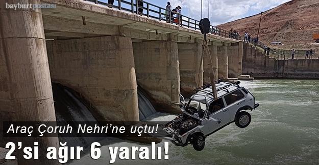 Otomobil, Çoruh nehrine düştü: 2'si ağır 6 yaralı var!