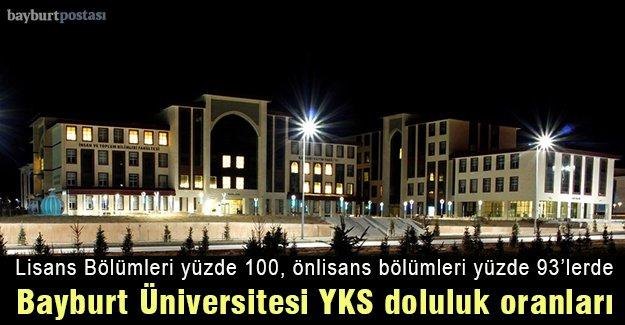 Bayburt Üniversitesi doluluk oranları yüzde 90'ların üzerinde