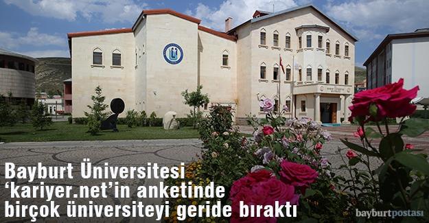 Bayburt Üniversitesi, 'kariyer.net'in anketinde iyi durumda