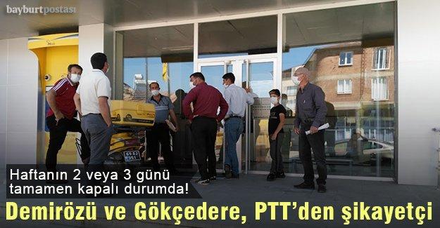 Demirözü ve Gökçedere halkı PTT'den şikayetçi