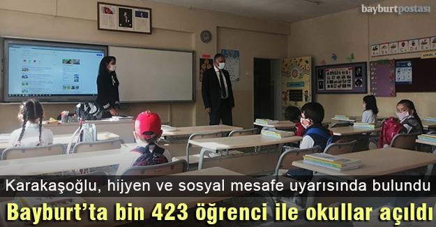 Bayburt'ta bin 423 öğrenci ile eğitim-öğretim başladı