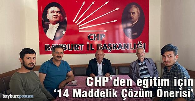 CHP İl Başkanı Erel'den '14 Maddelik Çözüm Önerisi'