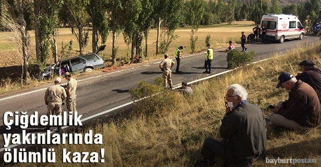 Çiğdemlik yakınlarında kaza: 1 ölü, 3 yaralı!