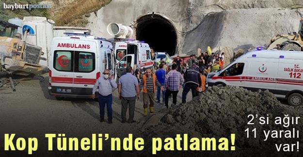 Kop Tüneli'nde patlama, bölgeye ambulanslar sevk edildi!