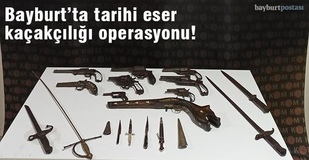 Osmanlı dönemine ait 19 adet silah ele geçirildi!