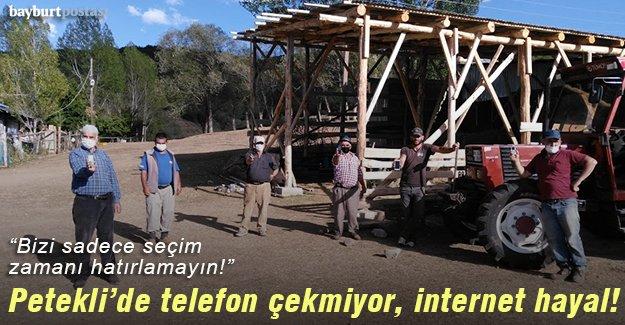 Petekli'de telefon çekmiyor, internet hayal!