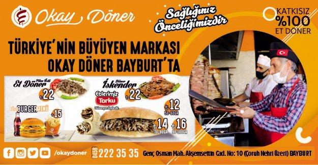 Türkiye'nin Büyüyen Markası Okay Döner Bayburt'ta