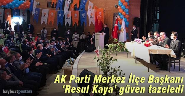 AK Parti Bayburt Merkez İlçe Kongresini yaptı