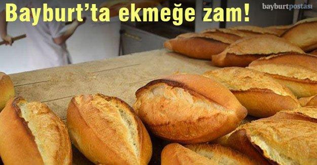Bayburt'ta ekmeğe 25 kuruş zam