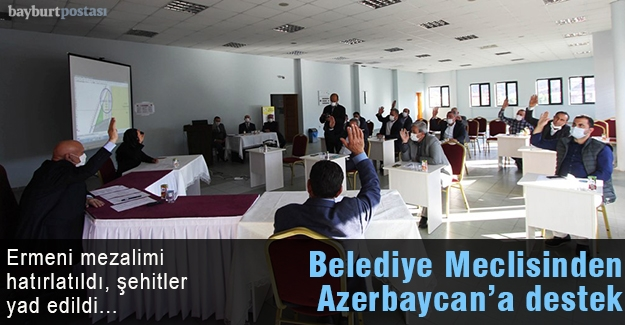 Belediye Meclisinden Azerbaycan'a Destek