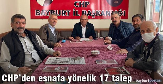 CHP esnaf sorunlarını dile getirdi, 17 talepte bulundu