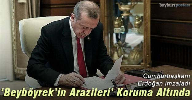 Cumhurbaşkanı Erdoğan imzaladı: 'Beyböyrek'in Arazileri' koruma altında
