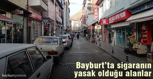 Bayburt'ta sigara içilmesi yasak olan yerler